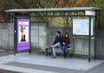Boot Camp Bride bus shelter