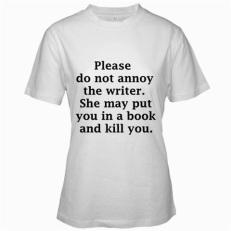 4. killer author t-shirt