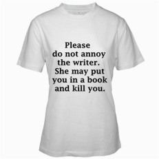 4. killer author t-shirt