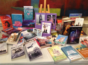 Some of the books written by participating authors.
