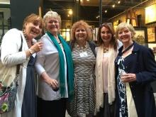 Katie Fforde, me, Adrienne, Eileen Ramsey