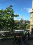 view over Princes Street Gardens