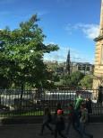 view over Princes Street Gardens