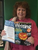 Me, featured in Writers' Magazine